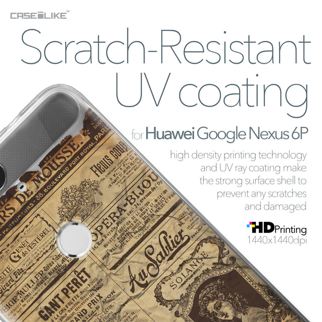 Huawei Google Nexus 6P case Vintage Newspaper Advertising 4819 with UV-Coating Scratch-Resistant Case | CASEiLIKE.com