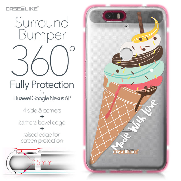 Huawei Google Nexus 6P case Ice Cream 4820 Bumper Case Protection | CASEiLIKE.com