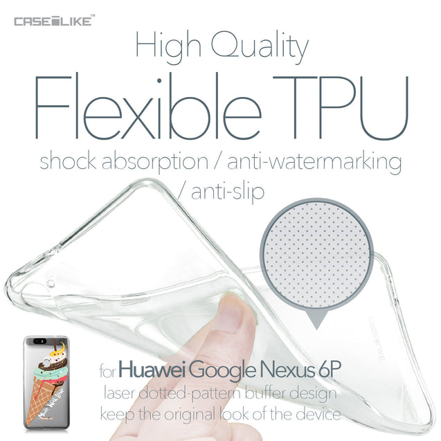 Huawei Google Nexus 6P case Ice Cream 4820 Soft Gel Silicone Case | CASEiLIKE.com