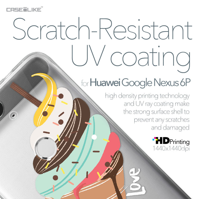 Huawei Google Nexus 6P case Ice Cream 4820 with UV-Coating Scratch-Resistant Case | CASEiLIKE.com