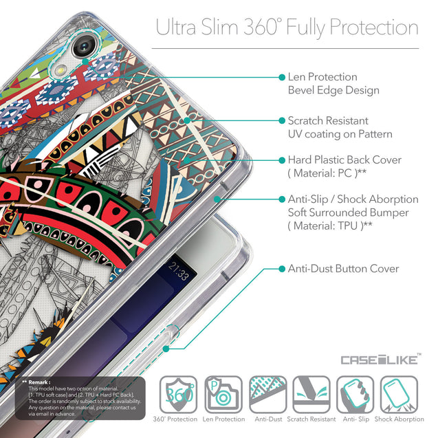 Details in English - CASEiLIKE Huawei Ascend P7 back cover Indian Tribal Theme Pattern 2055