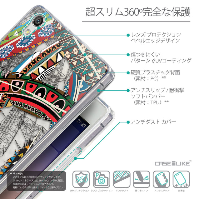 Details in Japanese - CASEiLIKE Huawei Ascend P7 back cover Indian Tribal Theme Pattern 2055
