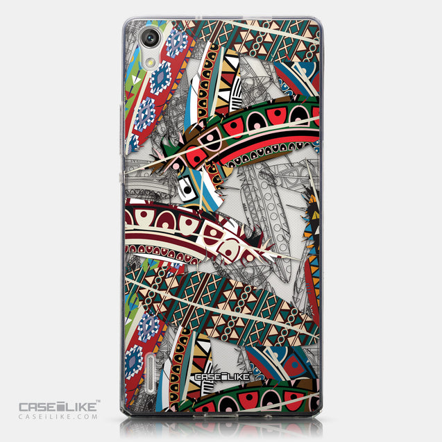 CASEiLIKE Huawei Ascend P7 back cover Indian Tribal Theme Pattern 2055