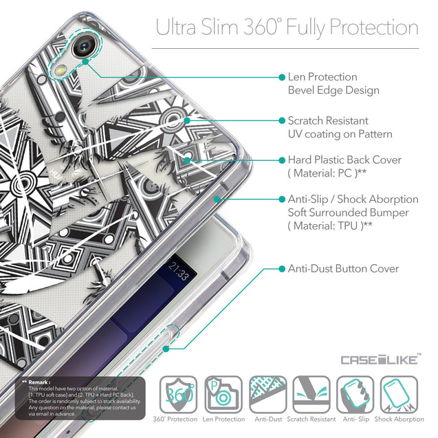 Details in English - CASEiLIKE Huawei Ascend P7 back cover Indian Tribal Theme Pattern 2056