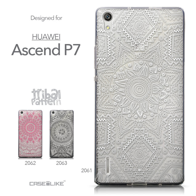 Collection - CASEiLIKE Huawei Ascend P7 back cover Indian Line Art 2061