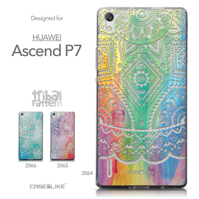 Collection - CASEiLIKE Huawei Ascend P7 back cover Indian Line Art 2064
