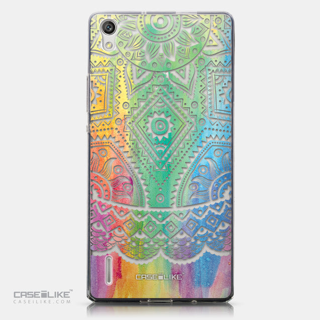 CASEiLIKE Huawei Ascend P7 back cover Indian Line Art 2064