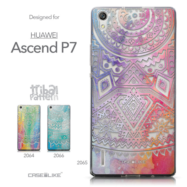 Collection - CASEiLIKE Huawei Ascend P7 back cover Indian Line Art 2065