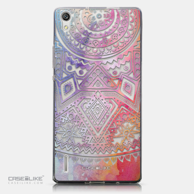 CASEiLIKE Huawei Ascend P7 back cover Indian Line Art 2065