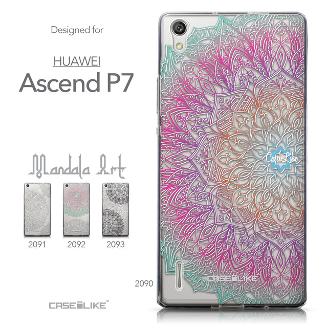 Collection - CASEiLIKE Huawei Ascend P7 back cover Mandala Art 2090