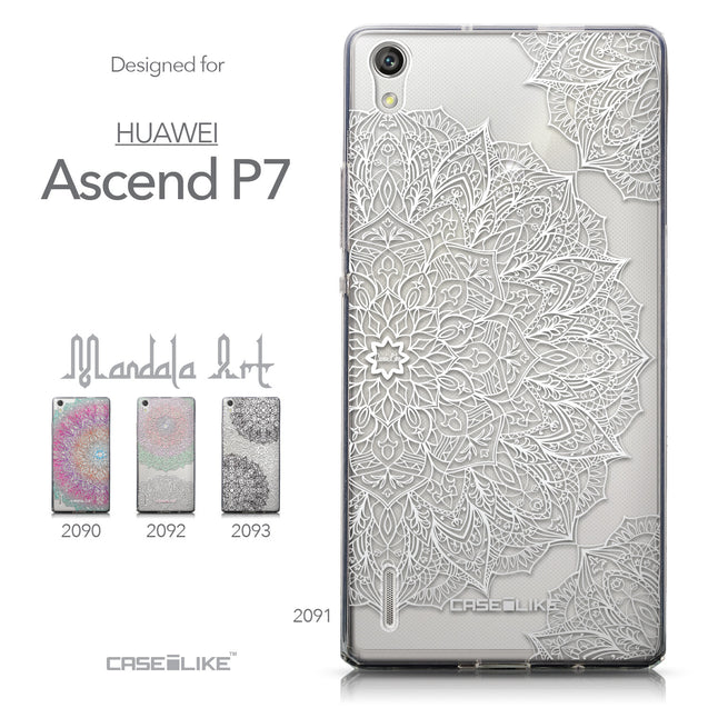 Collection - CASEiLIKE Huawei Ascend P7 back cover Mandala Art 2091