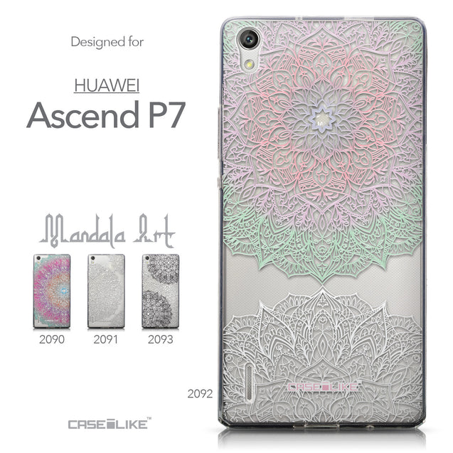 Collection - CASEiLIKE Huawei Ascend P7 back cover Mandala Art 2092