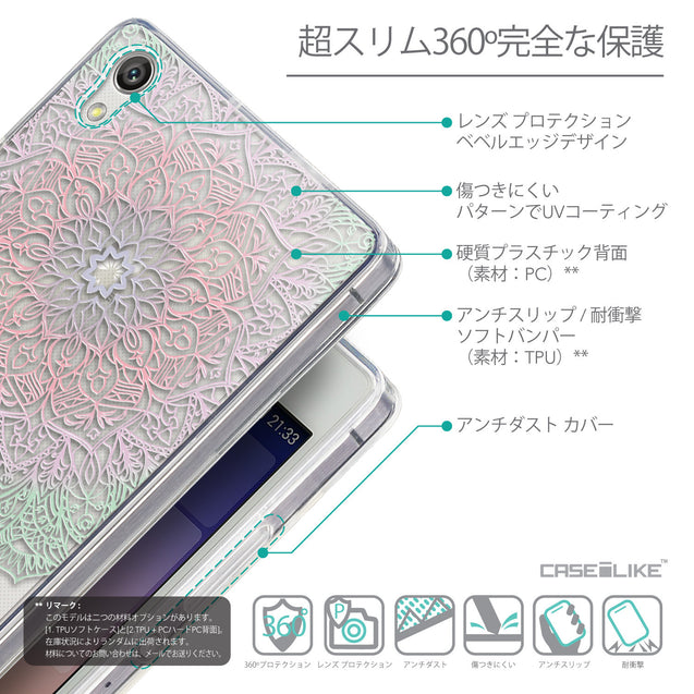 Details in Japanese - CASEiLIKE Huawei Ascend P7 back cover Mandala Art 2092