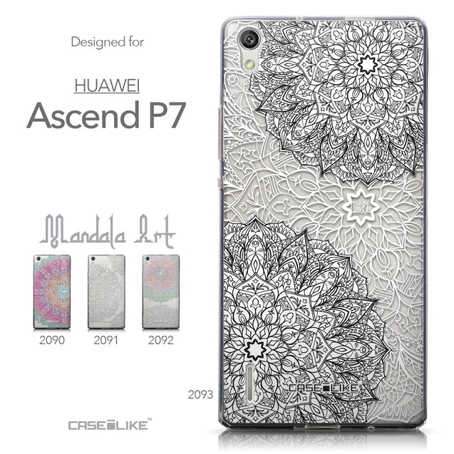Collection - CASEiLIKE Huawei Ascend P7 back cover Mandala Art 2093