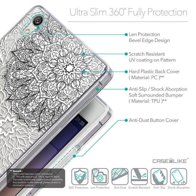Details in English - CASEiLIKE Huawei Ascend P7 back cover Mandala Art 2093