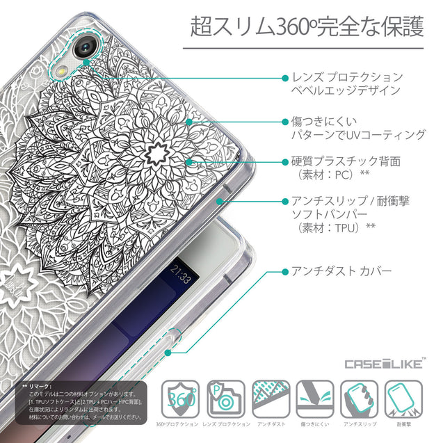 Details in Japanese - CASEiLIKE Huawei Ascend P7 back cover Mandala Art 2093