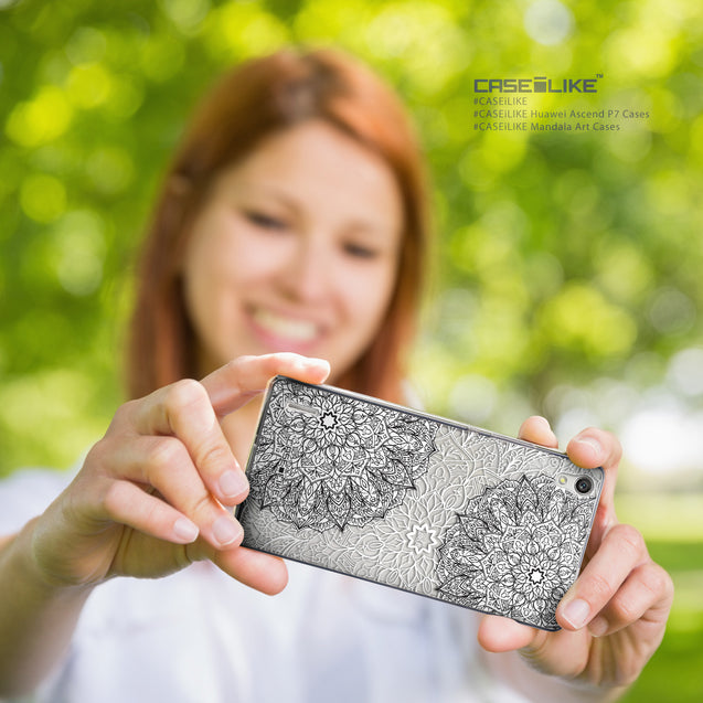 Share - CASEiLIKE Huawei Ascend P7 back cover Mandala Art 2093