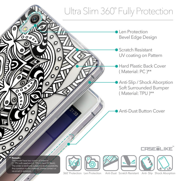 Details in English - CASEiLIKE Huawei Ascend P7 back cover Mandala Art 2096