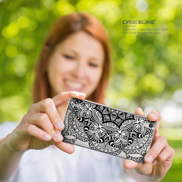 Share - CASEiLIKE Huawei Ascend P7 back cover Mandala Art 2096