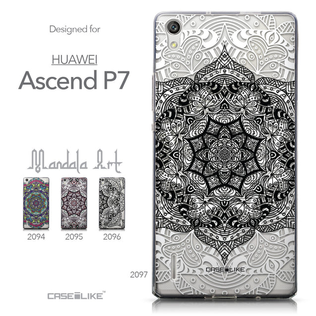 Collection - CASEiLIKE Huawei Ascend P7 back cover Mandala Art 2097