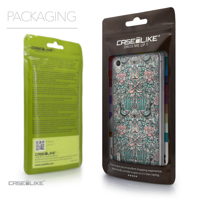 Packaging - CASEiLIKE Huawei Ascend P7 back cover Roses Ornamental Skulls Peacocks 2226