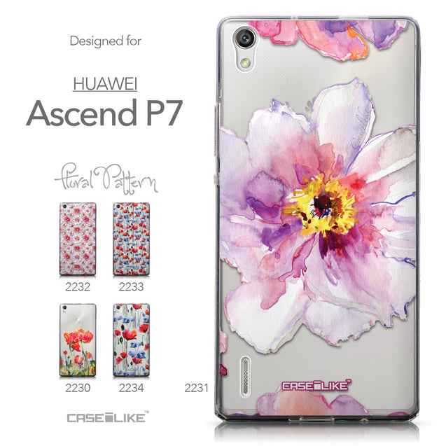 Collection - CASEiLIKE Huawei Ascend P7 back cover Watercolor Floral 2231