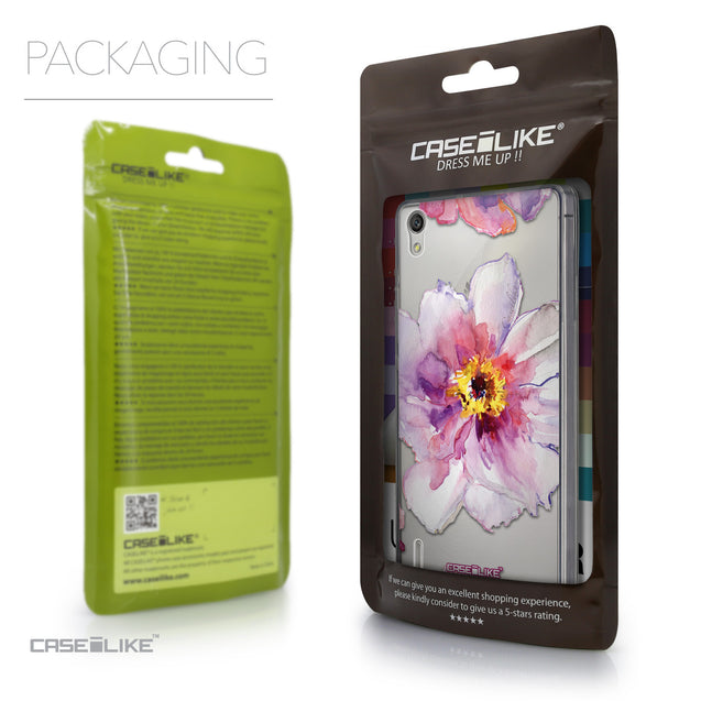 Packaging - CASEiLIKE Huawei Ascend P7 back cover Watercolor Floral 2231