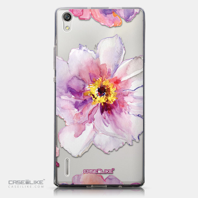 CASEiLIKE Huawei Ascend P7 back cover Watercolor Floral 2231
