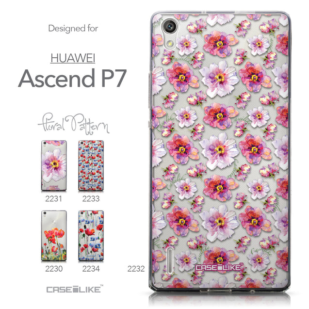 Collection - CASEiLIKE Huawei Ascend P7 back cover Watercolor Floral 2232