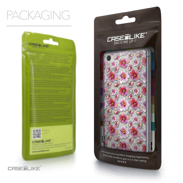 Packaging - CASEiLIKE Huawei Ascend P7 back cover Watercolor Floral 2232