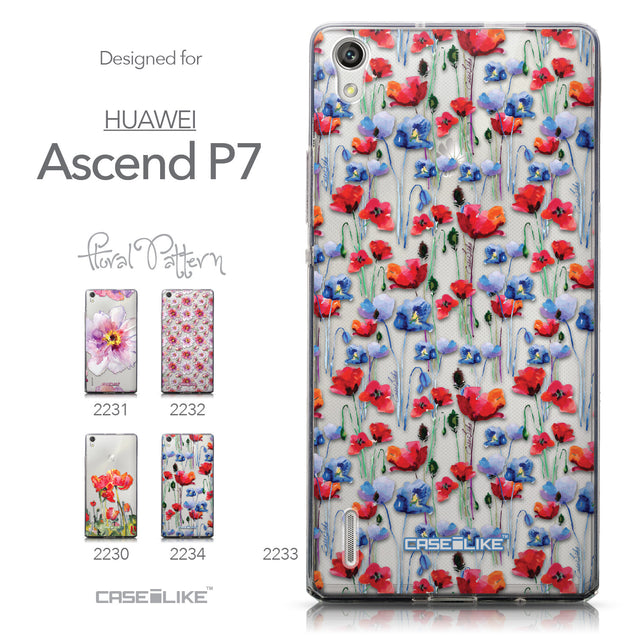 Collection - CASEiLIKE Huawei Ascend P7 back cover Watercolor Floral 2233