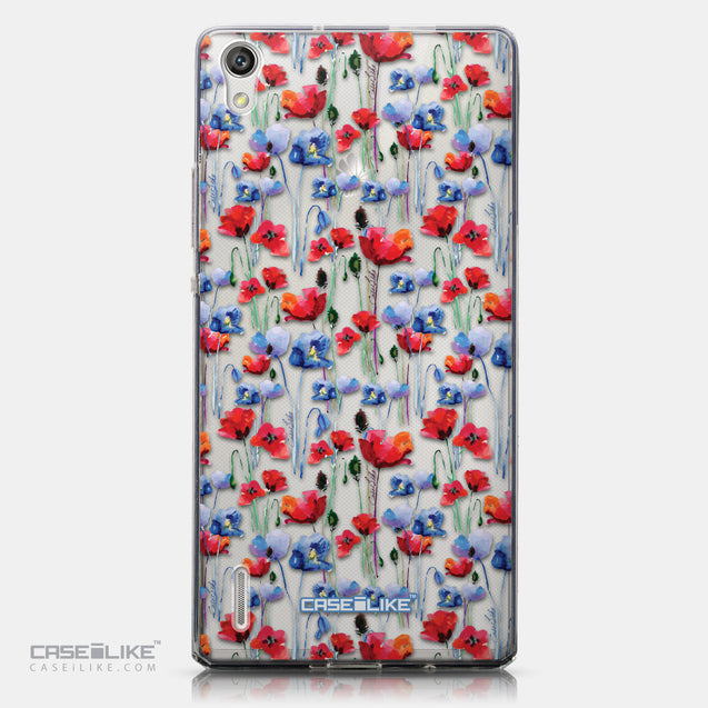 CASEiLIKE Huawei Ascend P7 back cover Watercolor Floral 2233