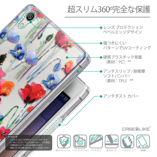 Details in Japanese - CASEiLIKE Huawei Ascend P7 back cover Indian Line Art 2061