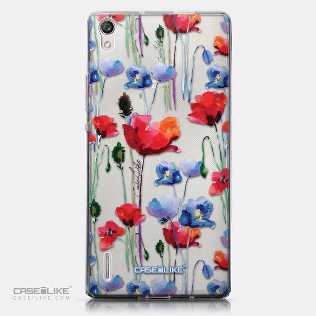 CASEiLIKE Huawei Ascend P7 back cover Watercolor Floral 2234