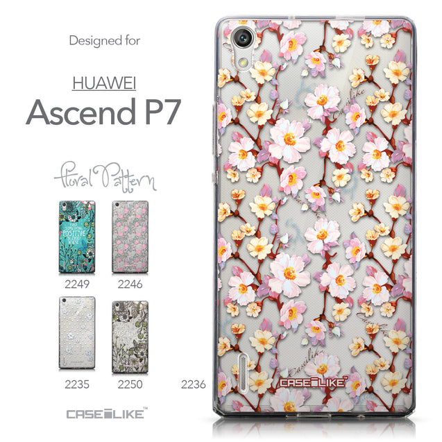 Collection - CASEiLIKE Huawei Ascend P7 back cover Watercolor Floral 2236
