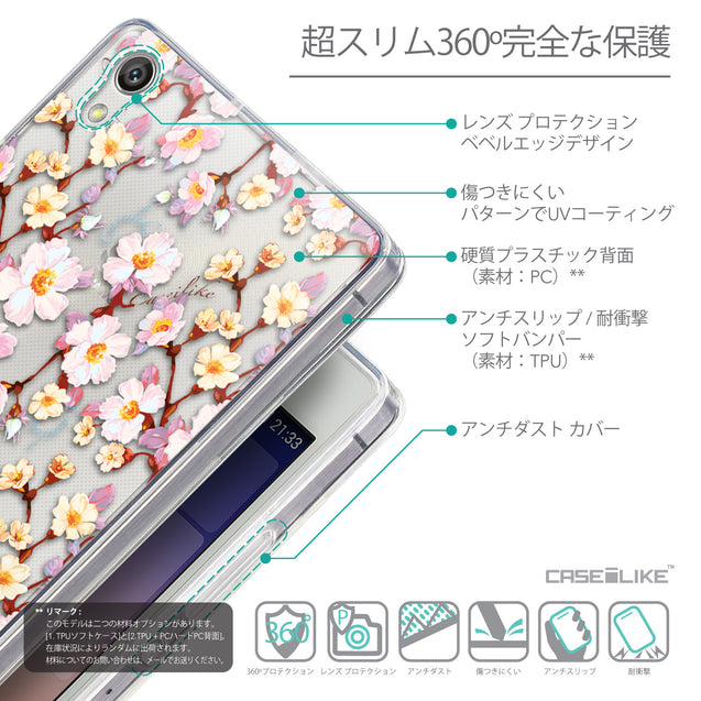 Details in Japanese - CASEiLIKE Huawei Ascend P7 back cover Watercolor Floral 2236