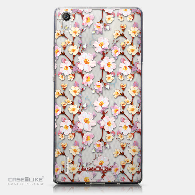 CASEiLIKE Huawei Ascend P7 back cover Watercolor Floral 2236