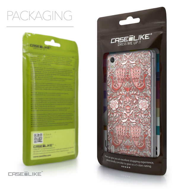 Packaging - CASEiLIKE Huawei Ascend P7 back cover Roses Ornamental Skulls Peacocks 2237