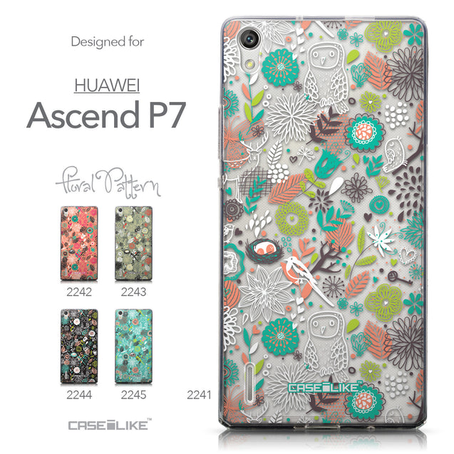 Collection - CASEiLIKE Huawei Ascend P7 back cover Spring Forest White 2241
