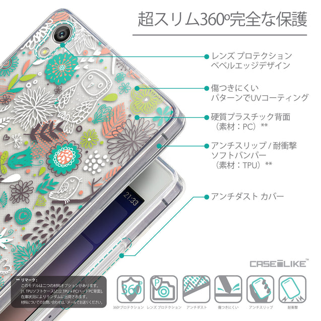 Details in Japanese - CASEiLIKE Huawei Ascend P7 back cover Spring Forest White 2241