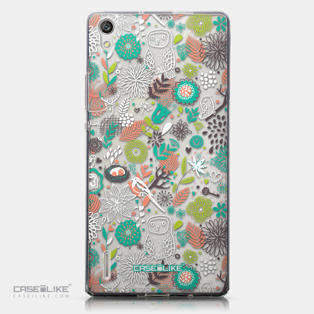 CASEiLIKE Huawei Ascend P7 back cover Spring Forest White 2241