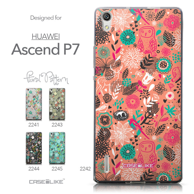 Collection - CASEiLIKE Huawei Ascend P7 back cover Spring Forest Pink 2242