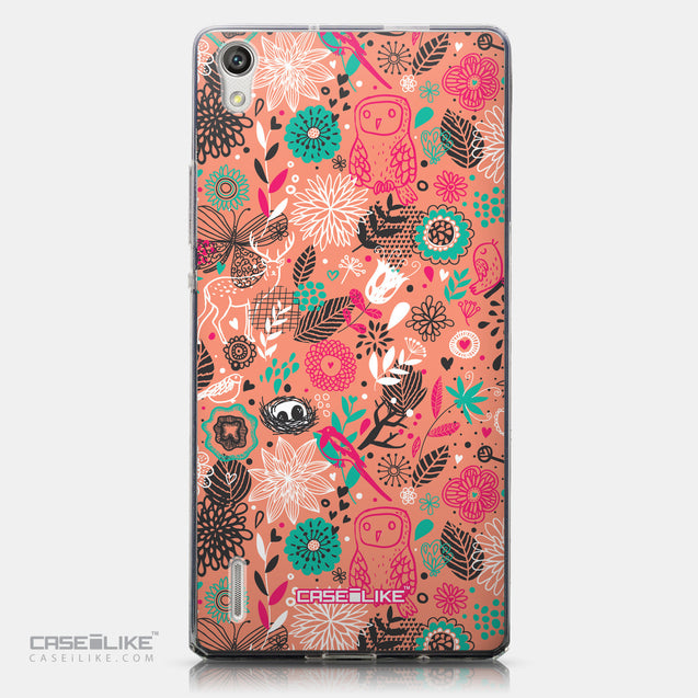 CASEiLIKE Huawei Ascend P7 back cover Spring Forest Pink 2242