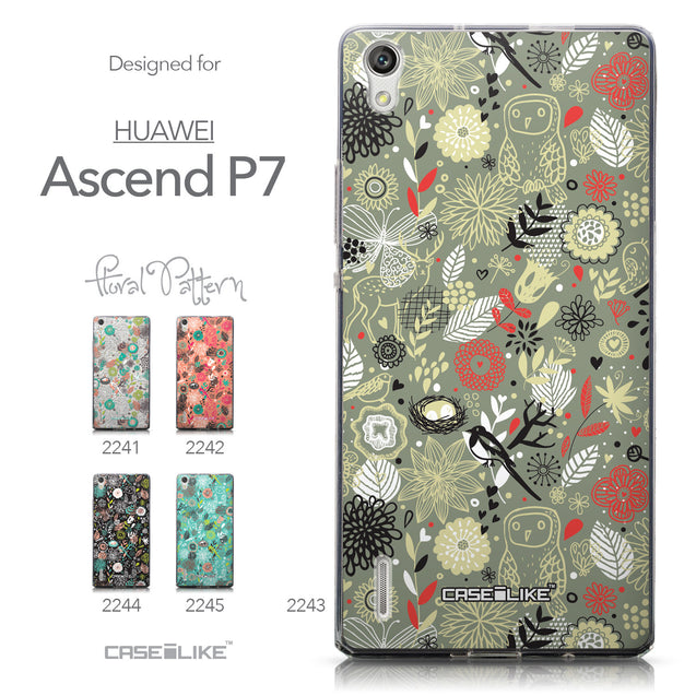 Collection - CASEiLIKE Huawei Ascend P7 back cover Spring Forest Gray 2243