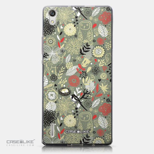 CASEiLIKE Huawei Ascend P7 back cover Spring Forest Gray 2243