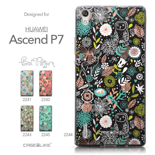 Collection - CASEiLIKE Huawei Ascend P7 back cover Spring Forest Black 2244