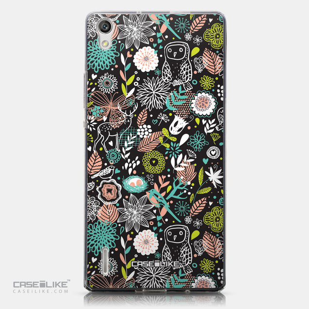 CASEiLIKE Huawei Ascend P7 back cover Spring Forest Black 2244