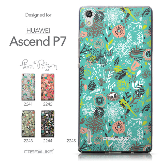 Collection - CASEiLIKE Huawei Ascend P7 back cover Spring Forest Turquoise 2245