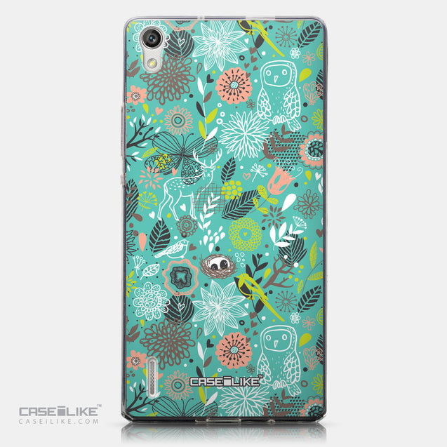 CASEiLIKE Huawei Ascend P7 back cover Spring Forest Turquoise 2245