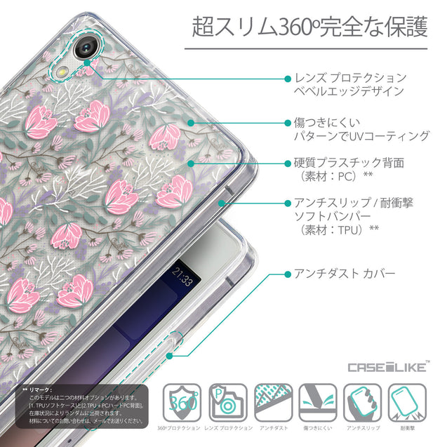 Details in Japanese - CASEiLIKE Huawei Ascend P7 back cover Flowers Herbs 2246